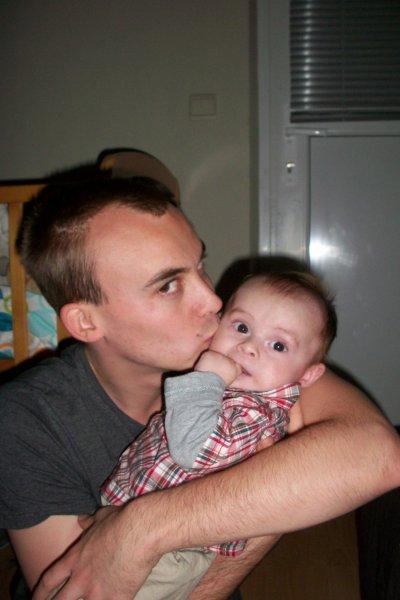 Nathan avec papa et maman