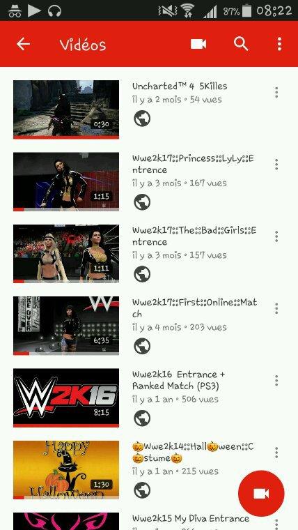 Pour les intéressés  je possède  aussi une chaîne youtube