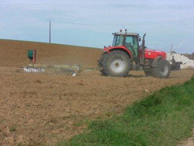 Massey fergusson 7495 et Cover crop