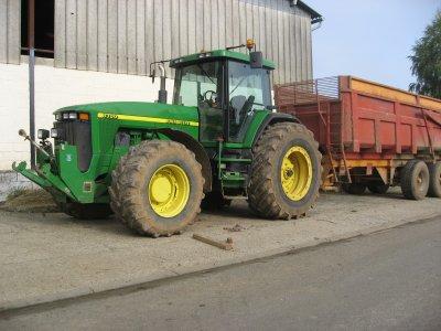 John Deere 8300 et benne knapi 2 essieux 21 tonnes