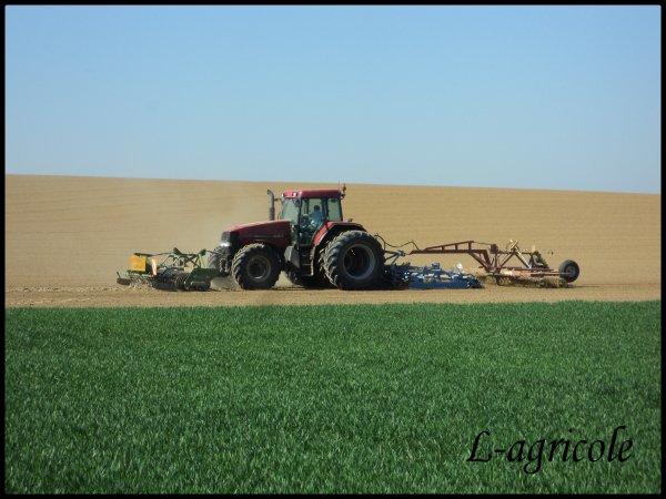 Préparations des terres pour planté patates  avec Case MX 150