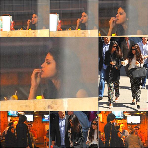 """. 24/04/13 : Cette journée aura été bien occupée entre les différents interview pour promouvoir Come & get it et ses petites sorties. 24/04/13 : Toujours dans la même journée, Selena est allée enregistrer une emission """"Last show with David Letterman"""".."""
