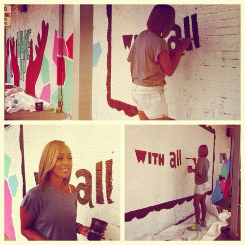 quelques new s de la chanteuse  Keri Hilson's mural @ Osborne High School yesterday.