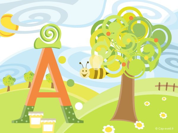 Voyage au pays des lettres de l'alphabet (A à D)