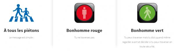 Signalisation Routière _ Le petit bonhomme vert et rouge