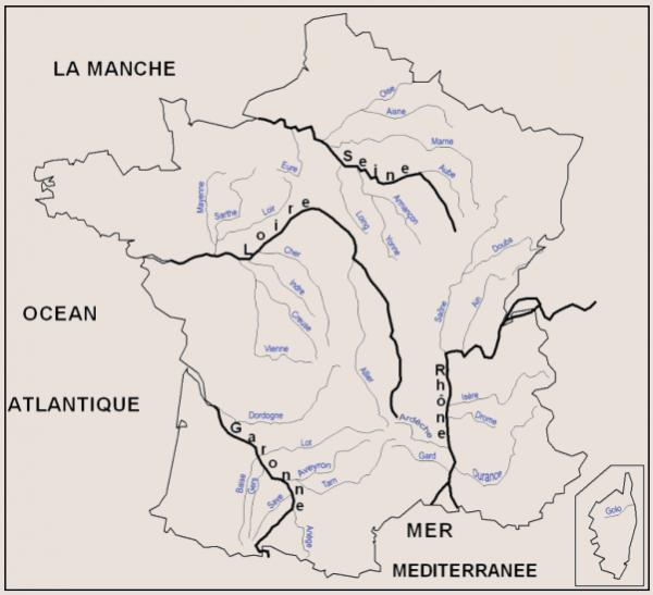 Cours de Géographie _ Les Fleuves Français