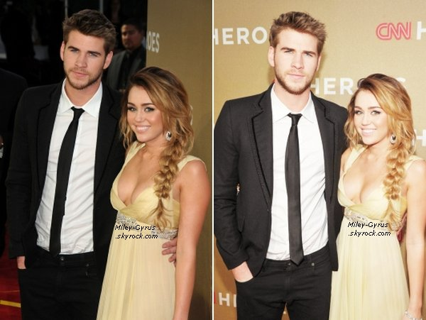 11/12/11Miley et Liam  à l'évènement ''CNN Heroes''. Top or Flop ?