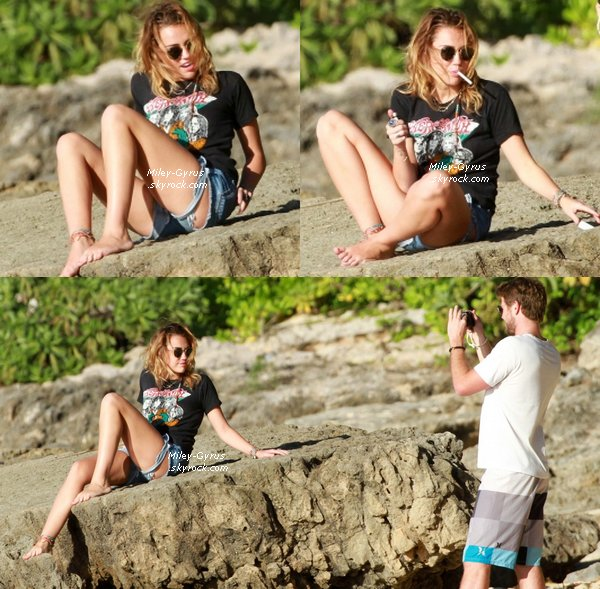 30/12/11Miley et Liam à la plage d'Hawai. Vos avis ? Top or Flop pour son bikini ?