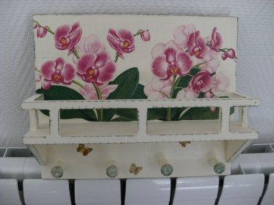 tag re accroche torchon orchid e n 768 loisirs cr atifs collage et serviettage. Black Bedroom Furniture Sets. Home Design Ideas