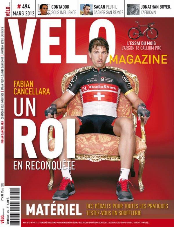 Article Vélo Magazines Mars 2012 : Cancellara, un Roi en reconquête