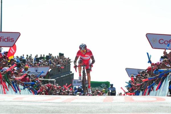 Tour d'Espagne 2012 / 12eme étape, Mirador Del Ezaro, Plats arrivé en côte.