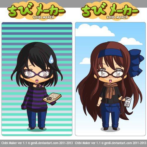 Umi-chan et moi en chibi
