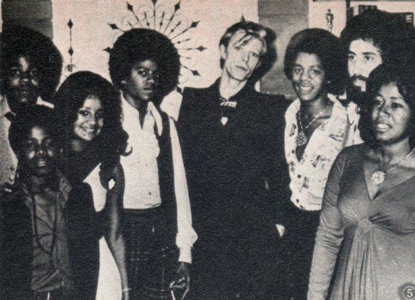 Michael Jackson et David Bowie en 1975