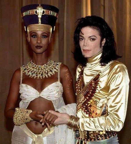 Michael et Iman (la femme de David Bowie) sur le tournage de Remember The Time