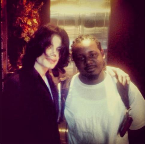 Michael et le rappeur T-Pain