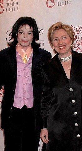 Michael Jackson et Hillary Clinton