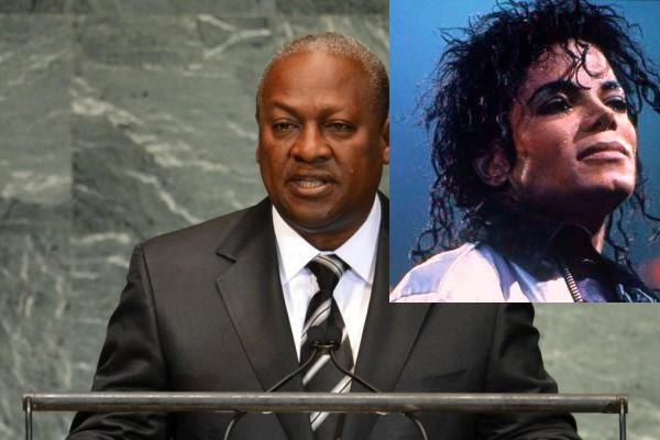 Michael Jackson par John Mahama (Président du Ghana)