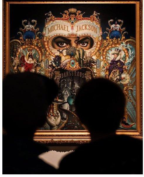 Le tableau original utilisé pour l'album Dangerous est exposé en ce moment au Centre d'Art Contemporain de Malaga (Espagne)