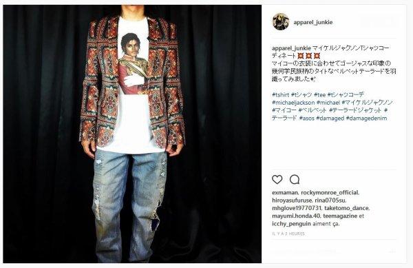 Au Japon un nouveau t shirt à l'occasion de l'anniveraire de Michael
