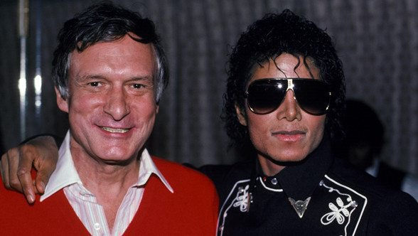 Hugh Hegner et Michael Jackson