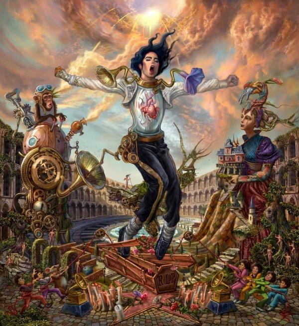 Le directeur artistique coréen Ken Gun Min vient de publier ce tableau en hommage à Michael.