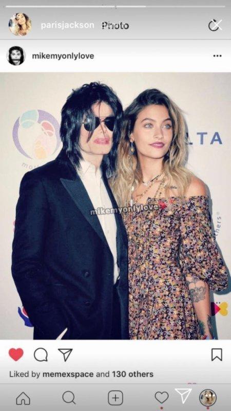 Paris et Michael réuni sur une photo... posté par Paris sur son instagram story