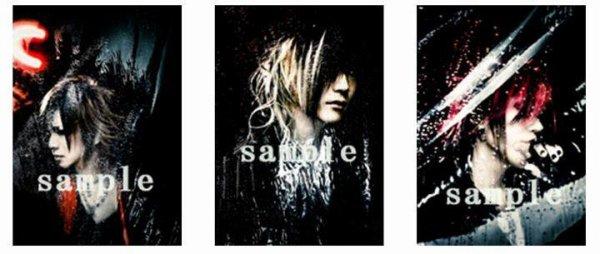 Images lives de the GazettE + Cartes + Image d'Aki.