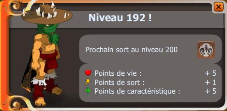 Up niveau 192 !