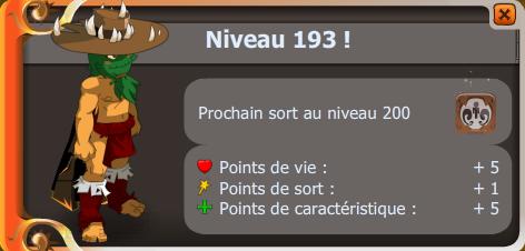 Up niveau 193 !