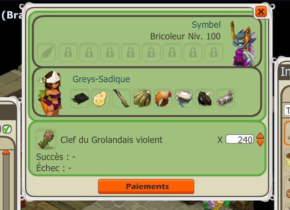 Préparation de 30 donjon Grolandais Violent.