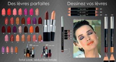 Maquillages, rouges à lèvres, vernis dans la gamme Frederic M