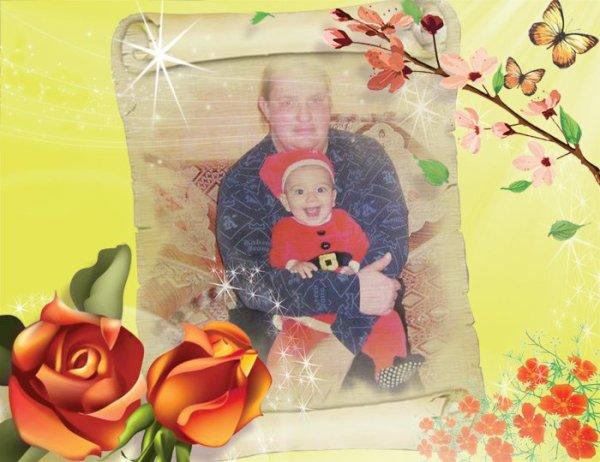 moi et mon petit fils Raphael