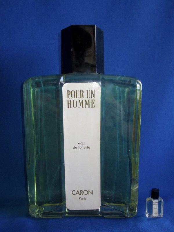 """✿ Caron - POUR UN HOMME - Factice """"géant"""" et sa mini ✿"""