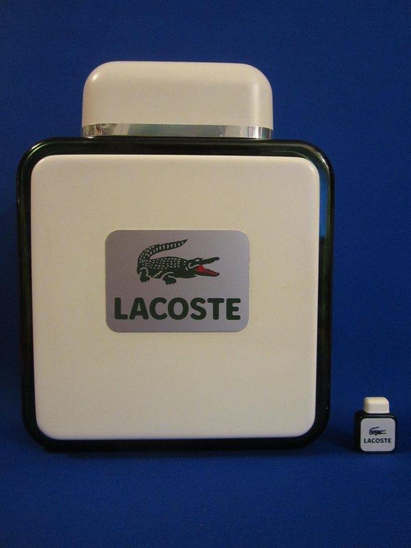 """✿   Lacoste - LACOSTE POUR HOMME - Factice """"géant"""" et sa mini  ✿"""