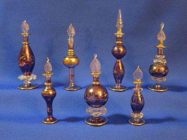 ✿ Flacons à parfum égyptiens - série violet  ✿