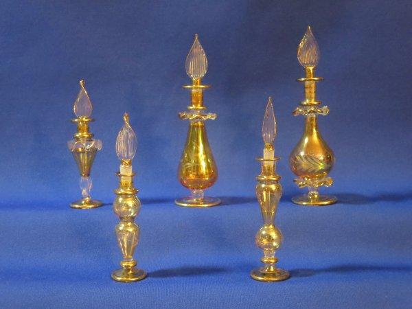 ✿ Egypte - Flacons à parfum  ✿  série or  ✿
