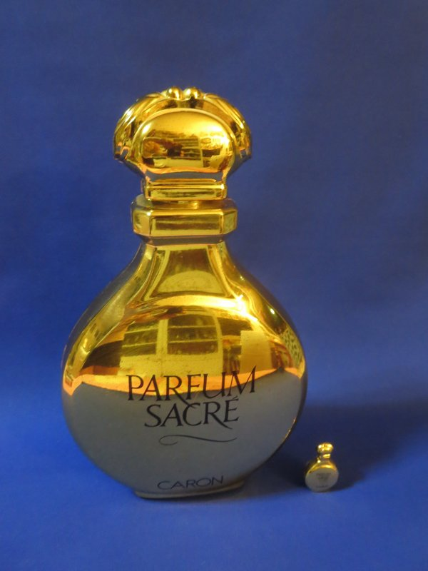 """✿ Caron - PARFUM SACRE - Factice """"géant"""" et sa mini ✿"""