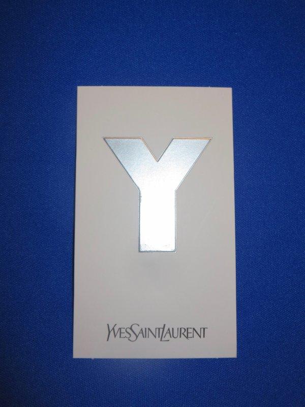 ✿ St Laurent Yves - Y POUR HOMME - ruban et carte parfumée ✿