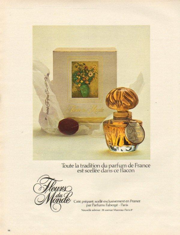 """✿ Fabergé - FLEURS DU MONDE - Factice """"géant"""" et sa mini ✿"""