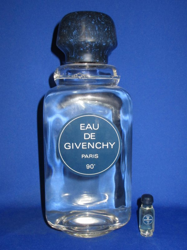 """✿ Givenchy - EAU DE GIVENCHY - Factice """"géant"""" et sa mini ✿"""