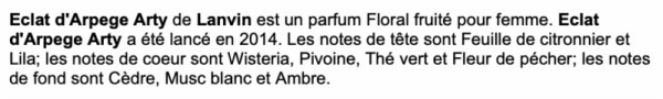 """✿ Lanvin - ECLAT D'ARPEGE """"ARTY"""" - édition limitée 2014 ✿"""