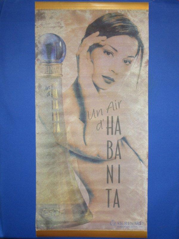 ✿ Molinard - UN AIR D'HABANITA - poster en tissu soyeux ✿