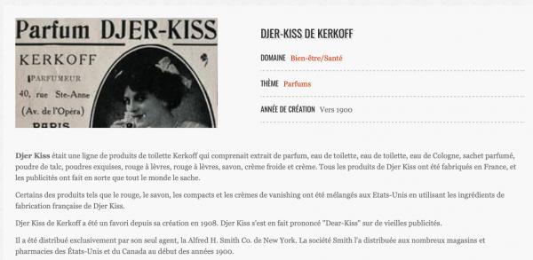 ✿ Kerkoff - Djer-Kiss - petit flacon de sac ✿