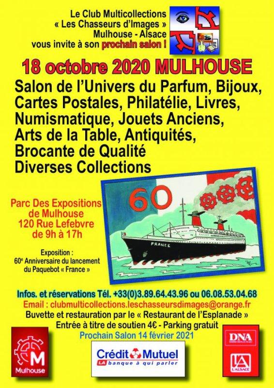 ♥ Salon de l'univers du parfum et de la carte postale - Mulhouse -  18 octobre 2020  ♥