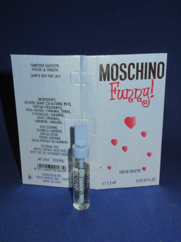 ✿ Moschino 🌸 FUNNY ! 🌸 échantillon ✿