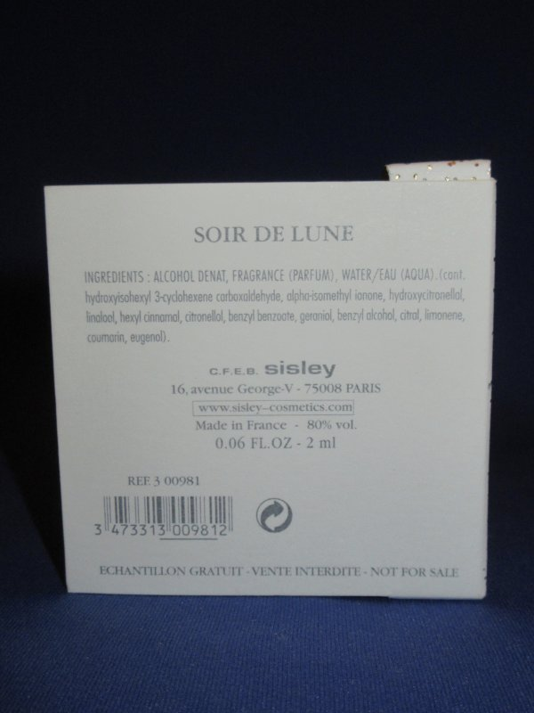 ✿ Sisley  🌸 SOIR DE LUNE  🌸 échantillon en boîte ✿