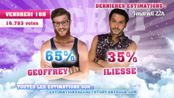Estimations - Première nominations : Geoffrey / Iliesse