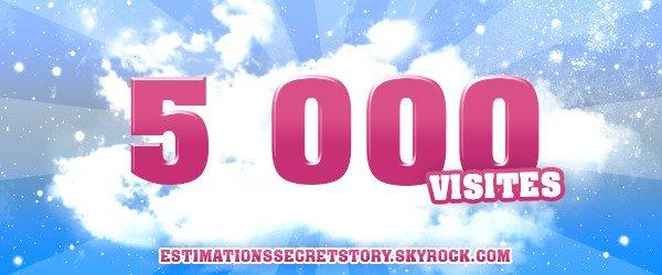 5 000 visites ! Merci a tous..