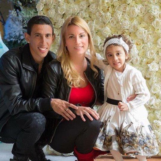 Angel Di Maria Jorgelina & Mia