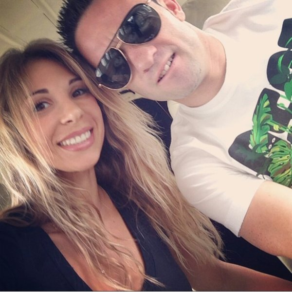 Mathieu Valbuena Fanny Lafon & Léa